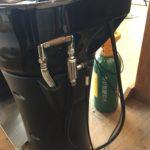炭酸泉の出るシャンプー台