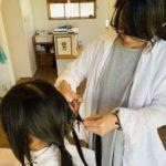 【ヘアドネーション 】この日をめっちゃ楽しみにしてくれていた可愛い小学生からの毛束の提供がありました